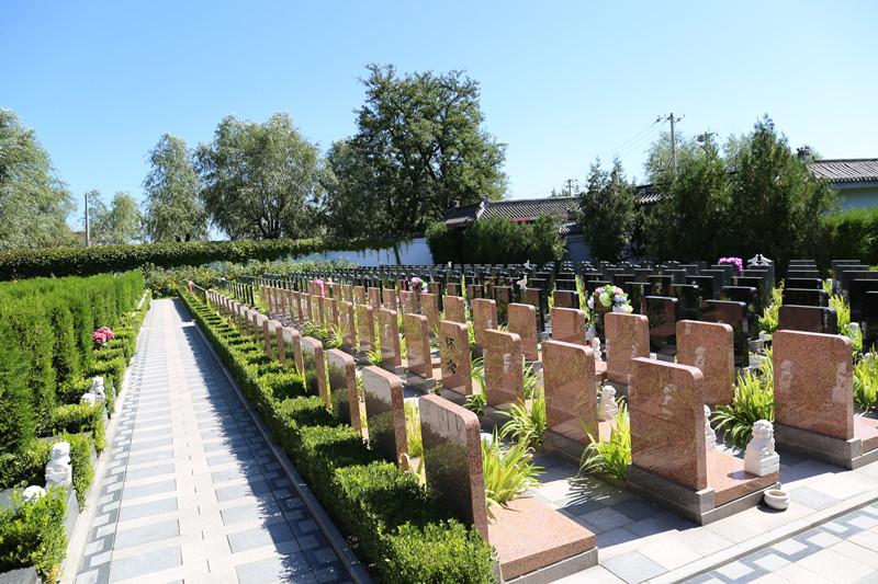 天寿陵园煦日园墓区环境